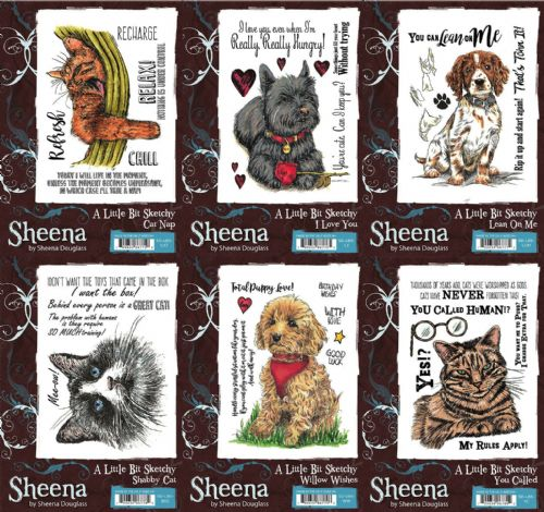 Sheena Douglass - Pets Collection - A6 Stamps